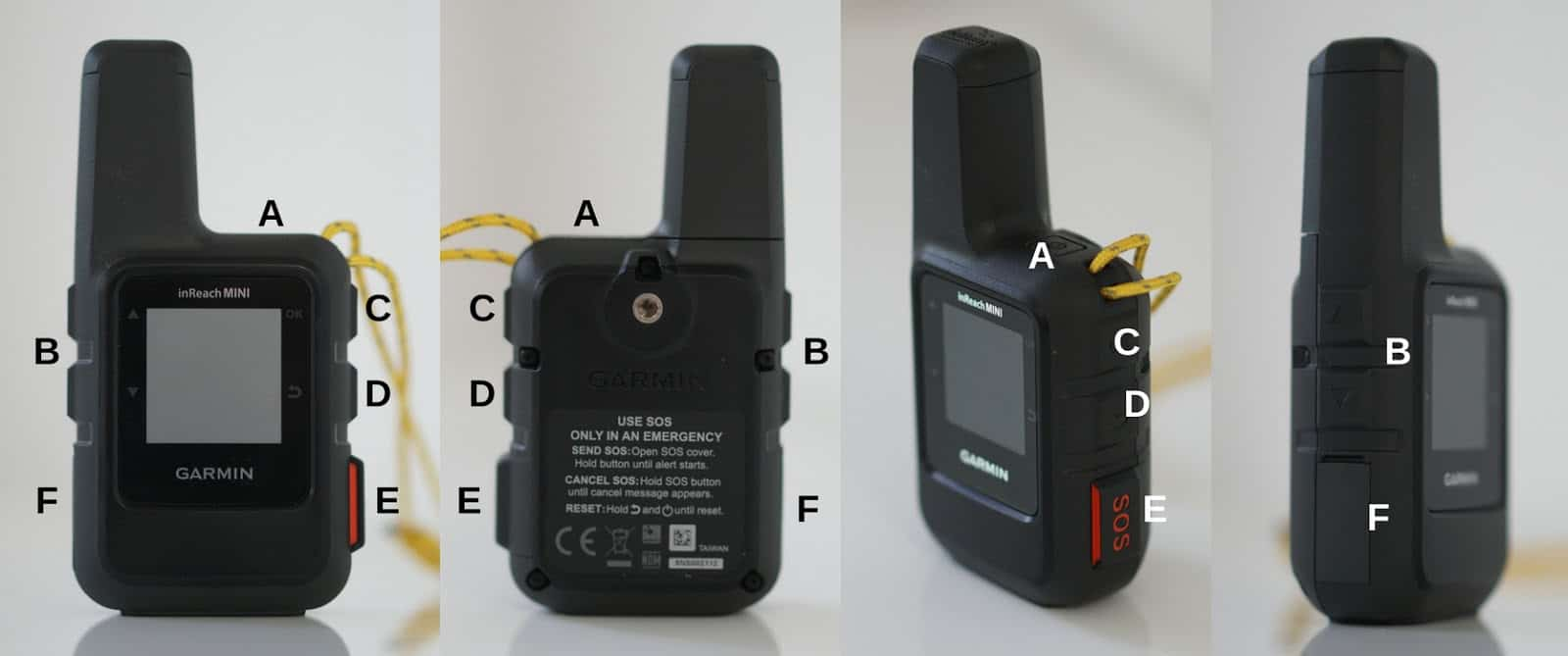 garmin inreach mini button layout 1