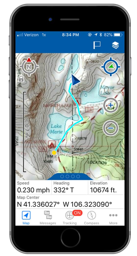 garmin inreach mini earthmate nav screenshot 1