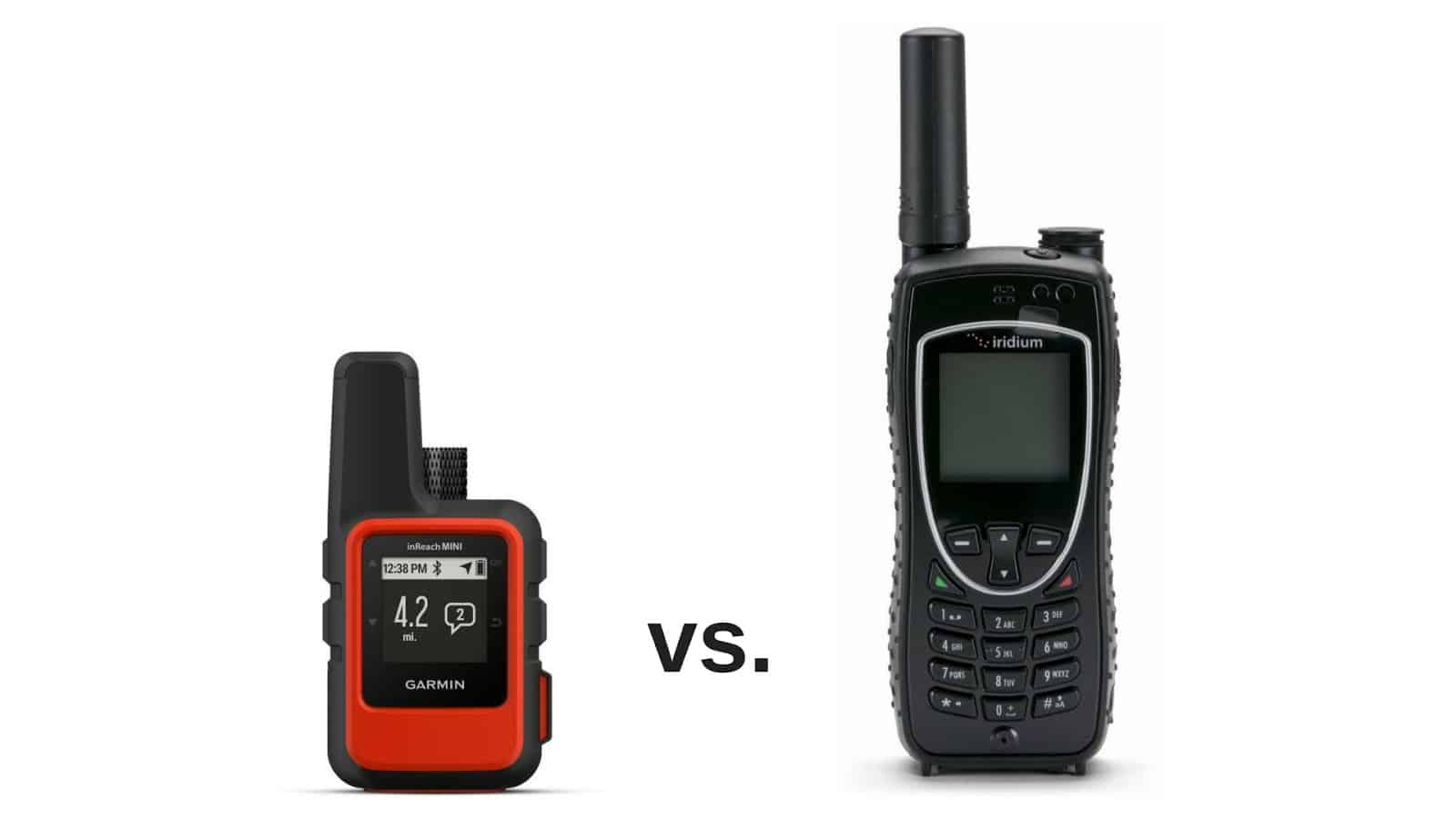 garmin inreach mini vs iridium 9575 extreme satellite phone 2