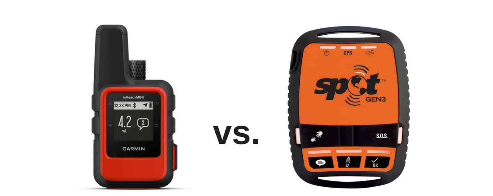 garmin inreach mini vs spot gen3 satellite messenger 2