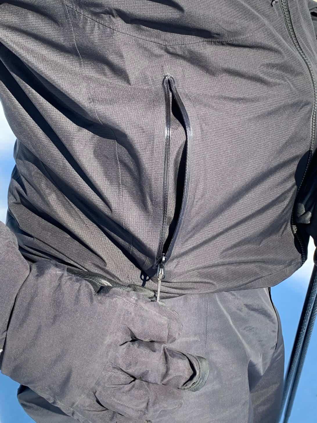 arcteryx zeta fl jacket pocket zip