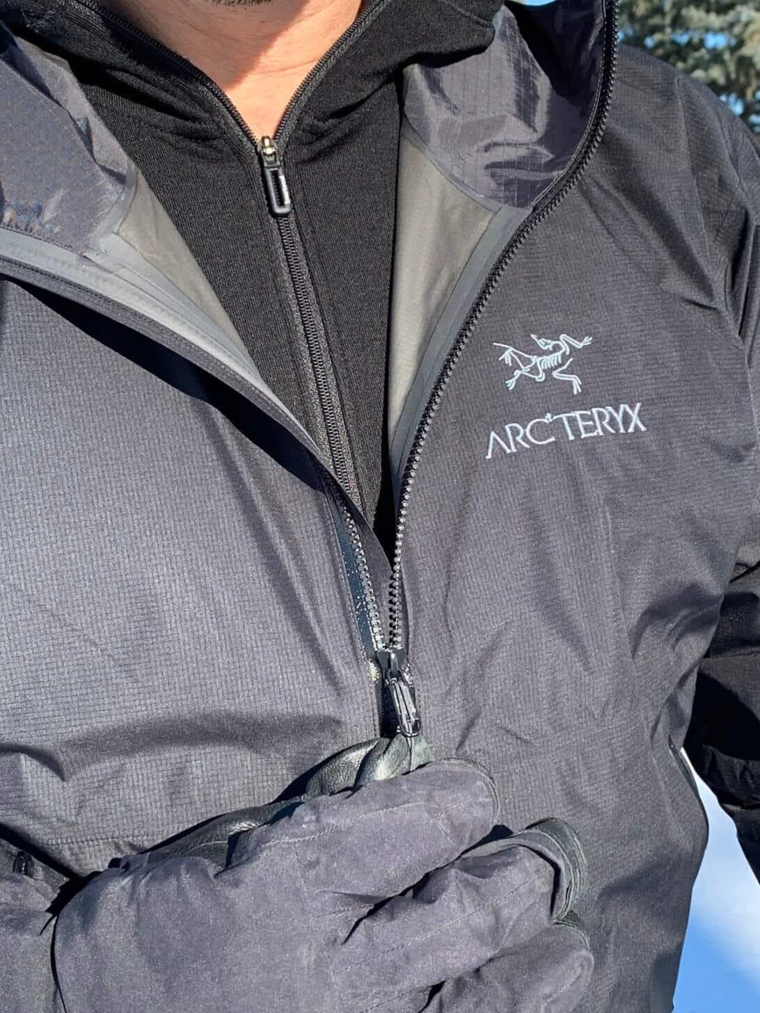 arcteryx zeta fl jacket zip