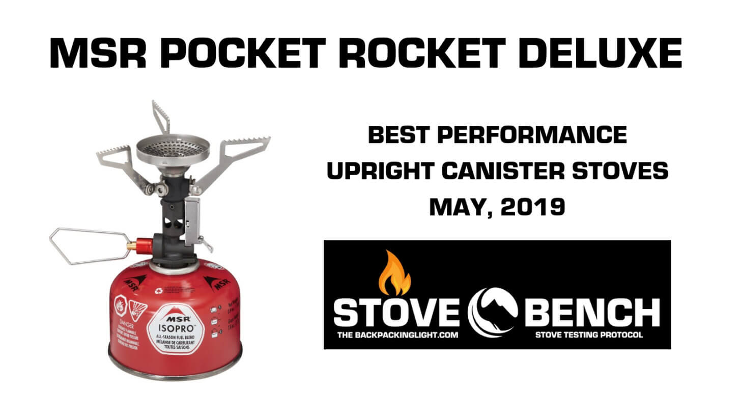 MSR POCKET ROCKET DELUXE STOVEBENCH BEST PERFORMANCE CANISTER STOVE