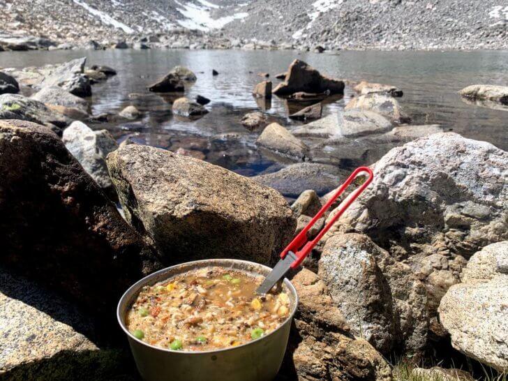 Dinnertime in the High Sierra.