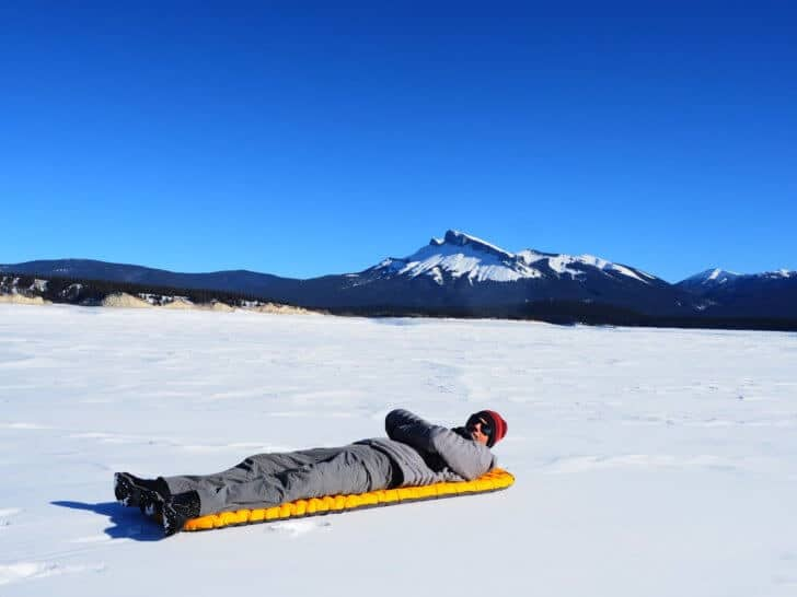 Nemo Tensor Insulated Sleeping Pad - testing on snow.