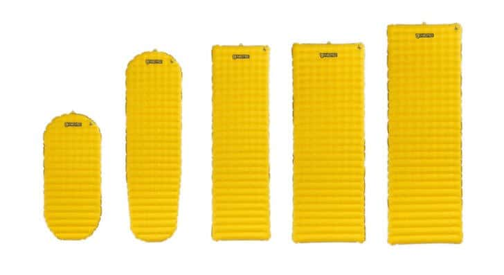 Nemo Tensor Insulated Sleeping Pad Review - configuration options.