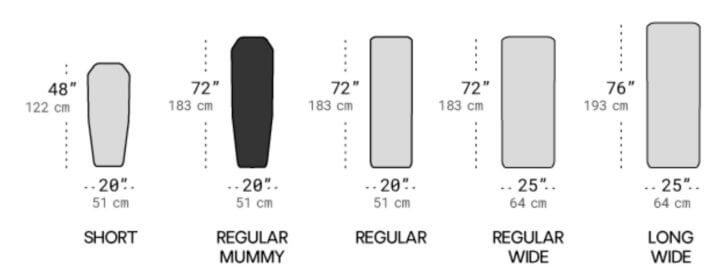 Nemo Tensor Insulated Sleeping Pad - size and style options.