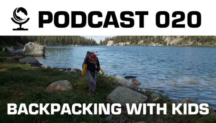 Backpacking with kids.