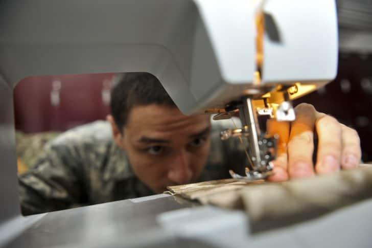 Airman sews USAF