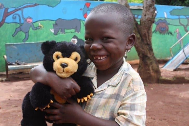 Child teddy bear USN