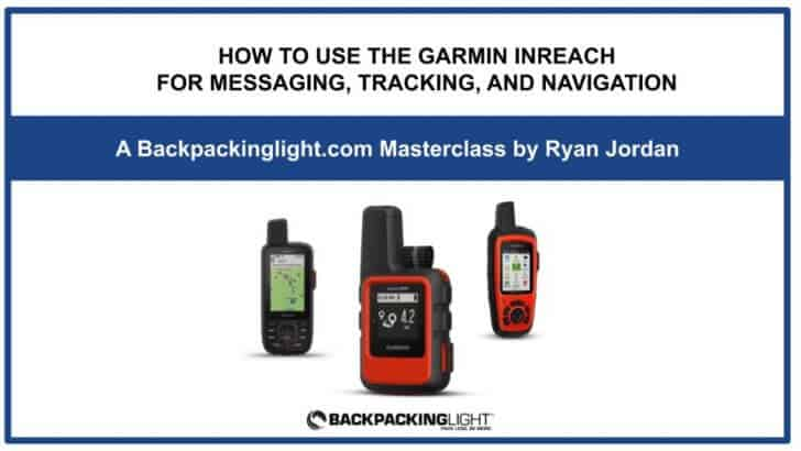How to use the Garmin inReach Online Course