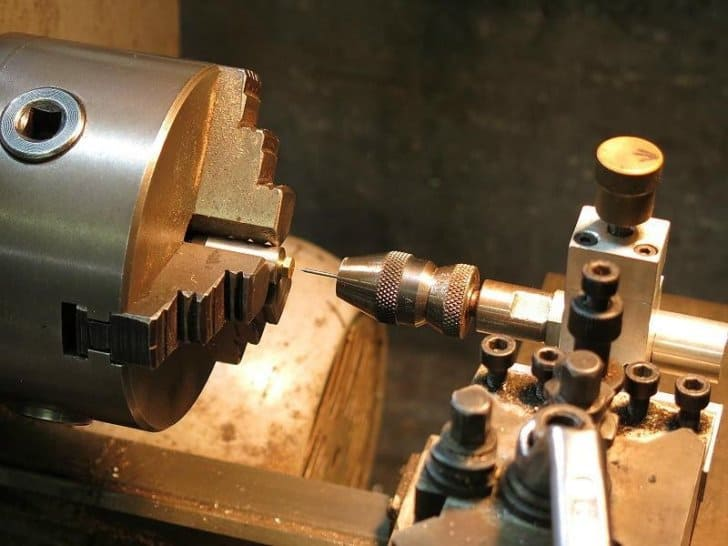 machining the stove jet on a lathe
