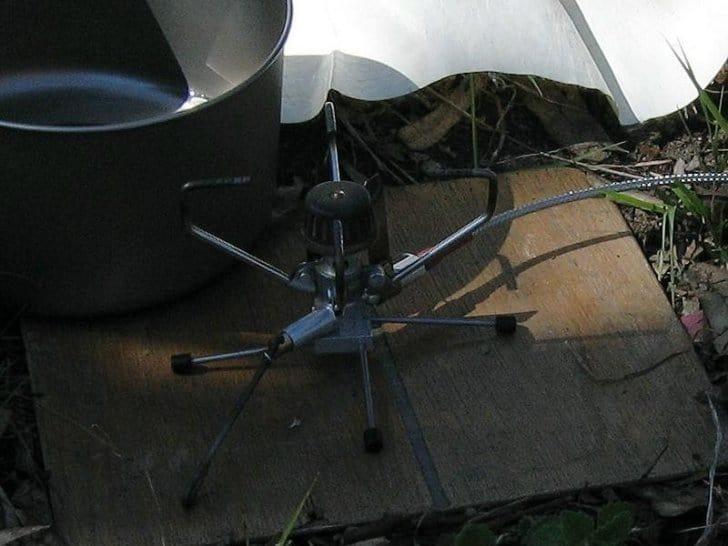 a modified brunton stove stand