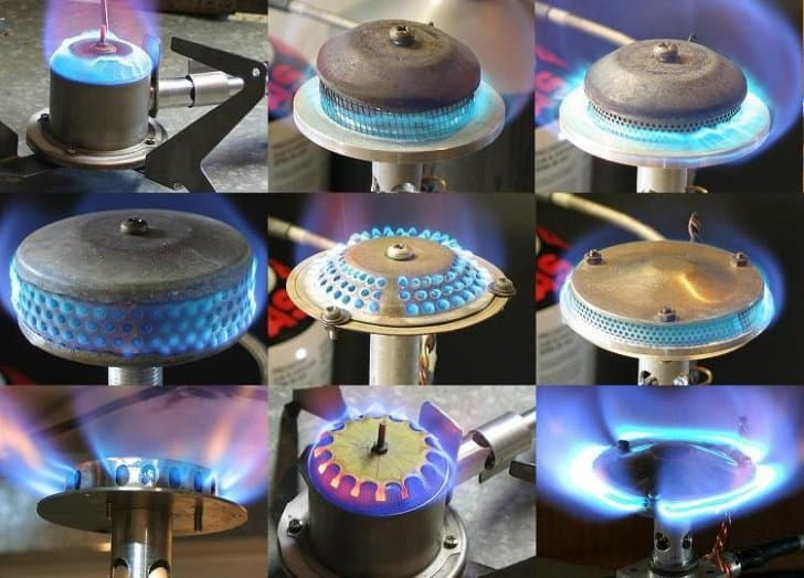 9 different DIY burner heads