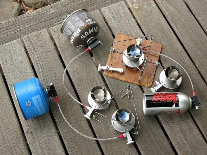 different stoves, different canisters, one connector assembly