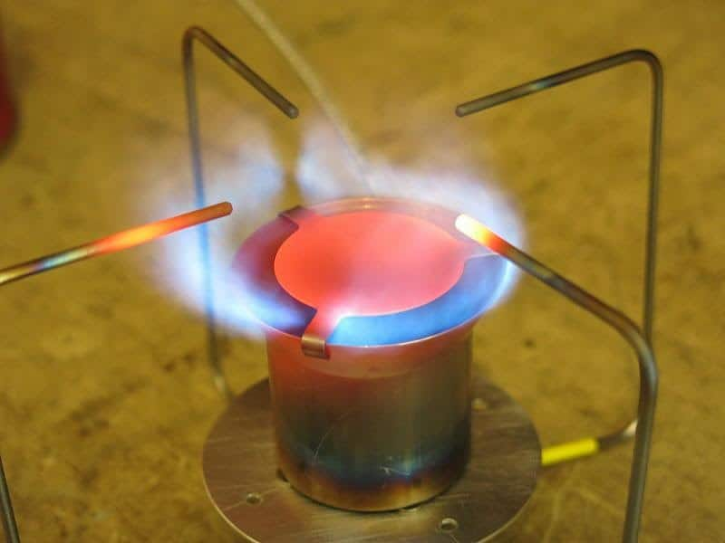 vortex burner head on my diy stove