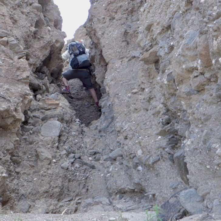 Hidden canyon slot