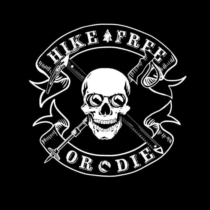 hike free or die logo