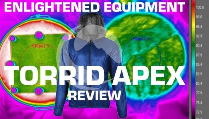 ENLIGHTENED EQUIPMENT TORRID APEX REVIEW: Heat Map Image