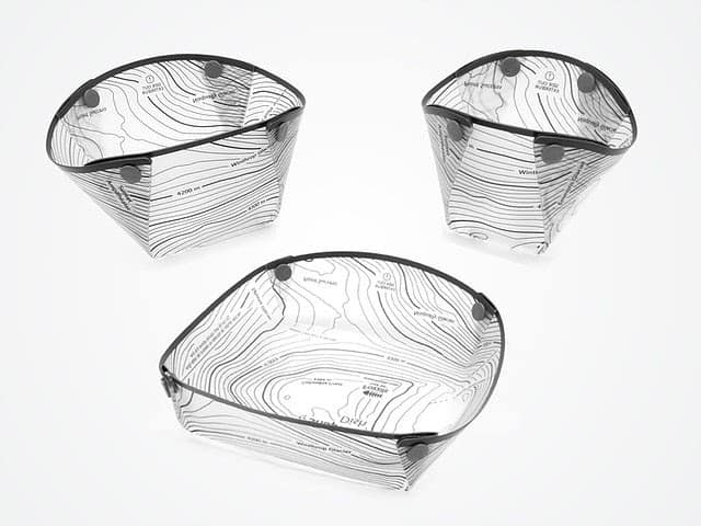 fozzils foldable ultralight dishware: a plate, bowl, and cup