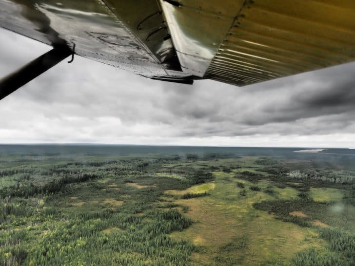 Nahanni River by Canoe: View of the Canadian Wilderness from the Plane