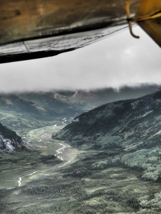 Nahanni River by Canoe: Clouds filling the valley from above.
