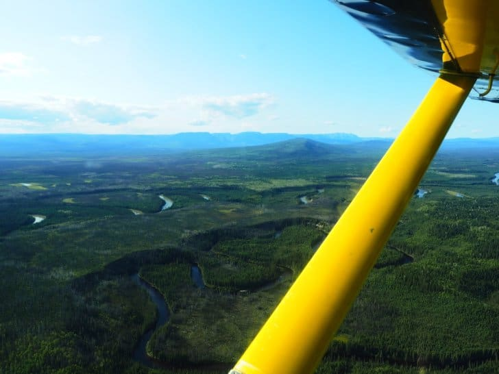 Nahanni River by Canoe: The view of the Canadian Wilderness from the Cessna.