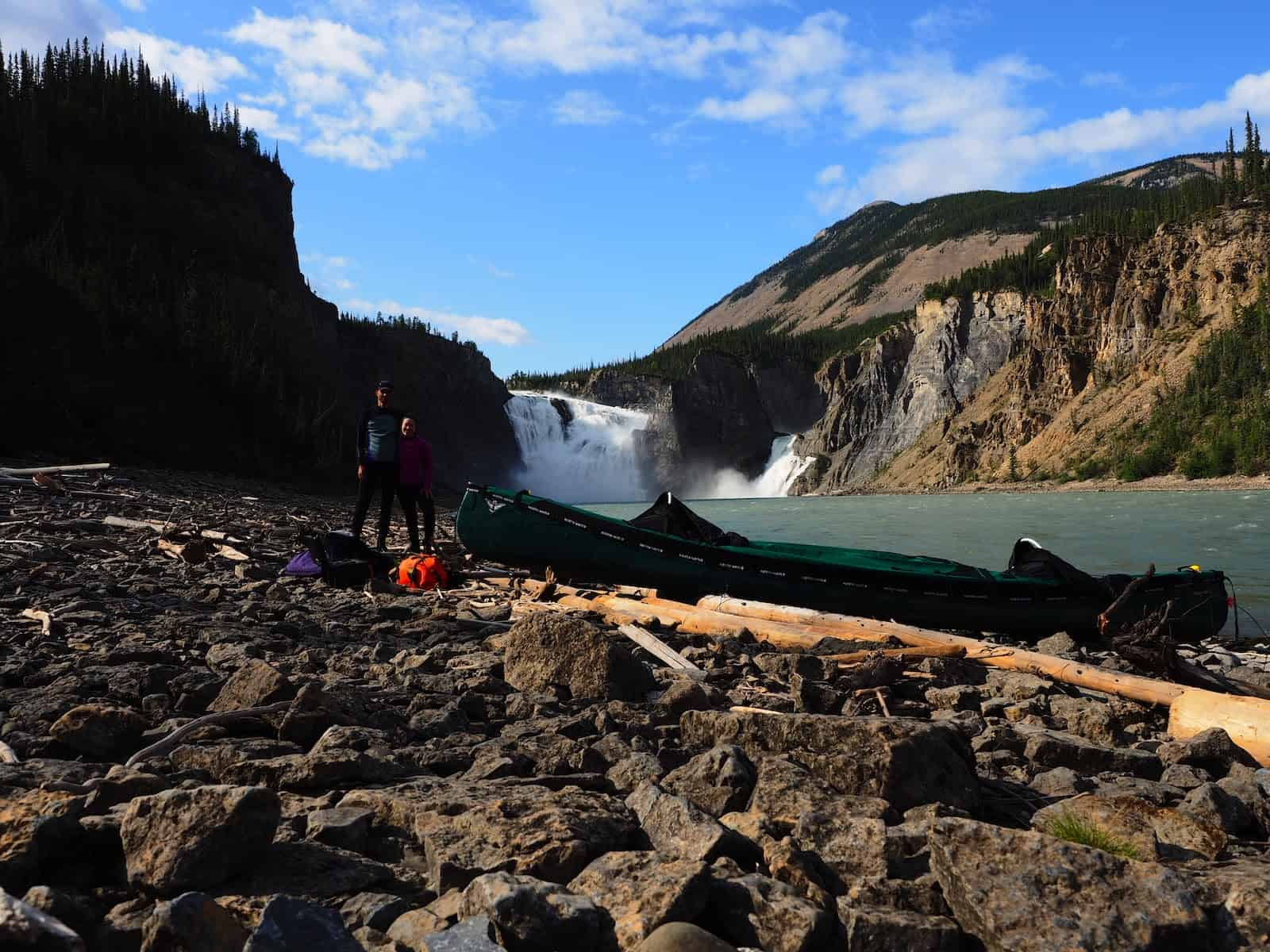 Nahanni River by Canoe: Readying to push off