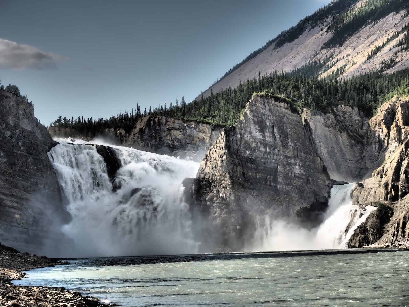 Nahanni River by Canoe: A final view of Virginia Falls