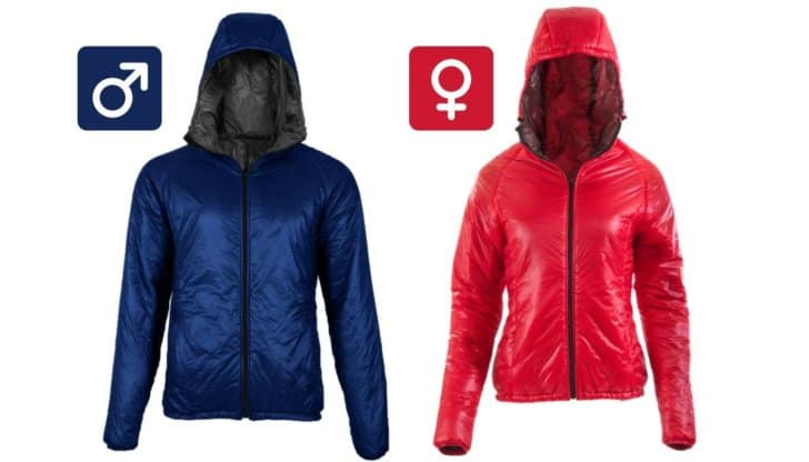 Torrid Apex Jacket: Male and Female versions side by side