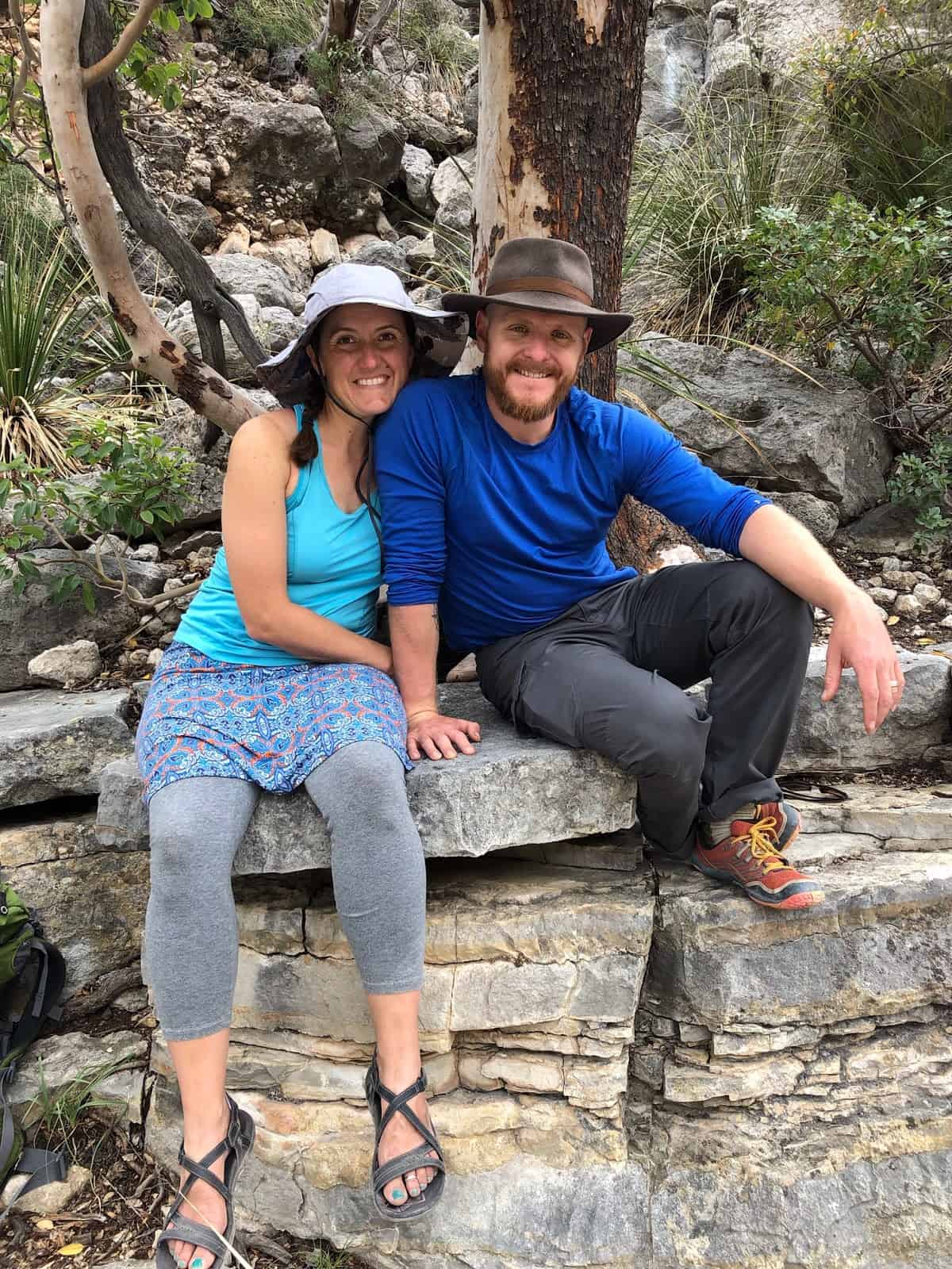 relationship while backpacking: the author and his wife