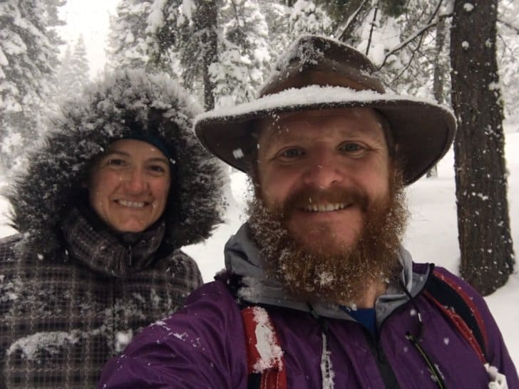 relationship while backpacking: the author and his wife 2