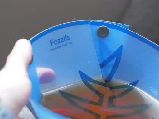 fozzils foldable ultralight dishware: fozzils bowl filled with liquid