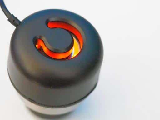 Crazycap 2 ultraviolet water treatment: Charging color of crazy cap lid