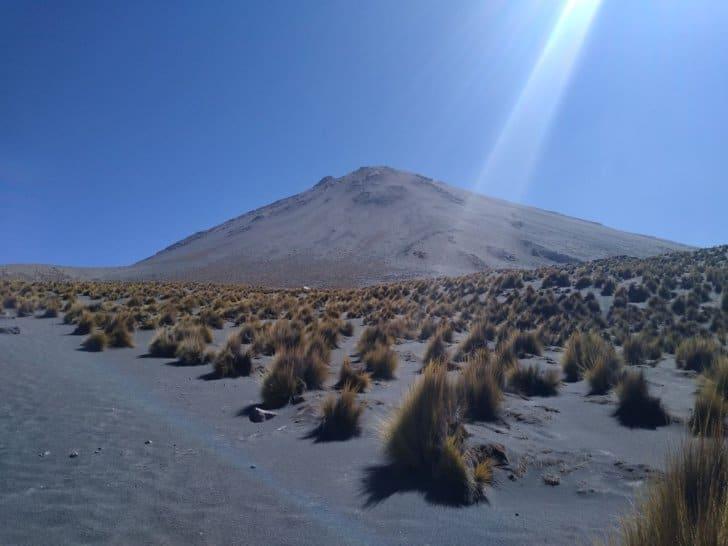 summiting misti the challenges of high altitude hiking: volcanic sand near Misti