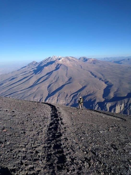 summiting misti the challenges of high altitude hiking: near the summit