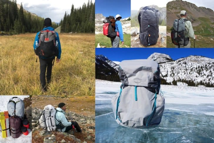 Backpacking product standards: Montage of backpacks