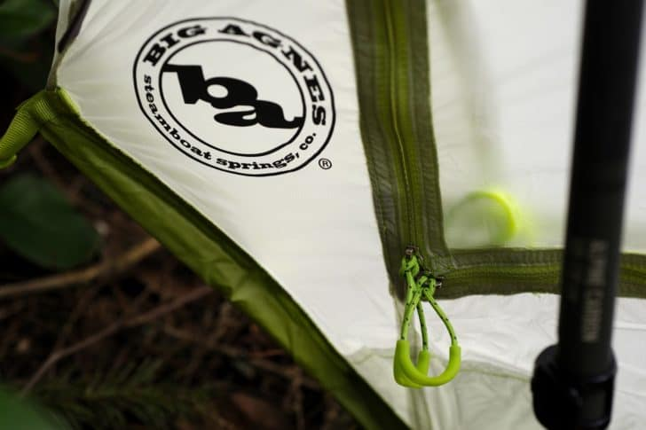 big agnes scout 1 platinum review: dual zippers in the scout 1