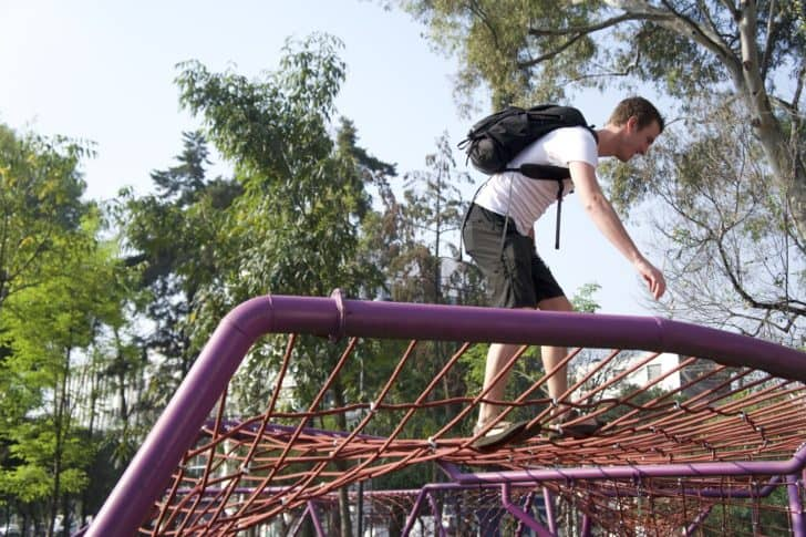 getting lost in an urban wilderness: playground climbing as adults