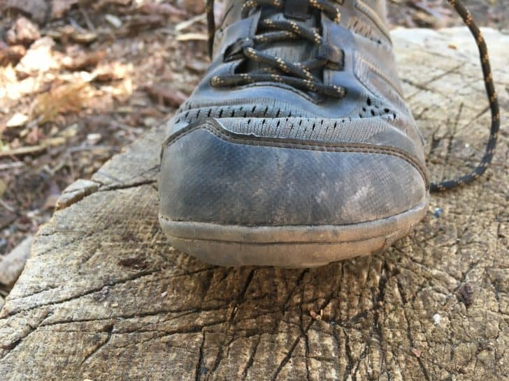 xero shoes mesa trail: the toe bumper after 500 miles
