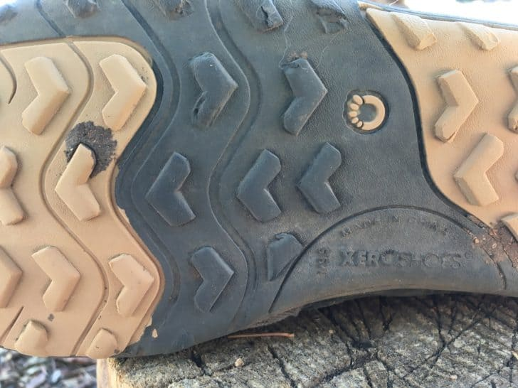 xero shoes mesa trail: the shoe's lugs