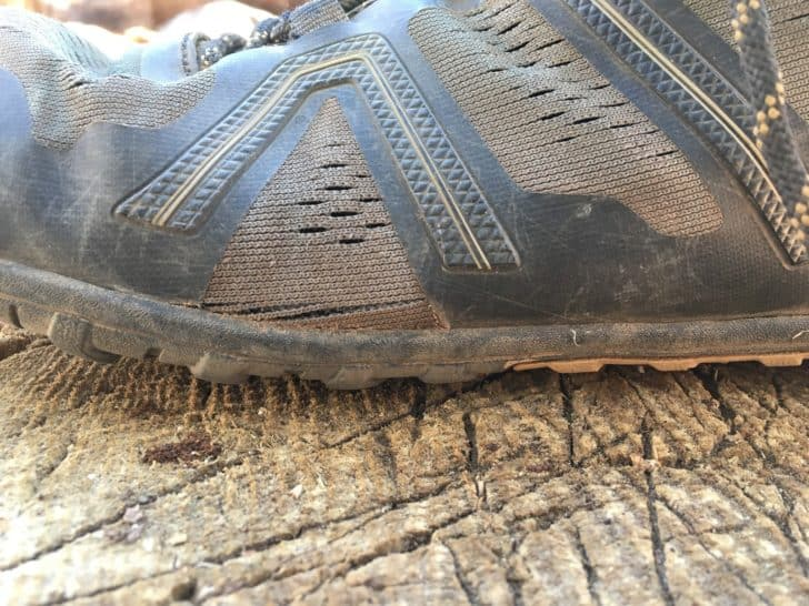 xero shoes mesa trail: low stack of the midsole