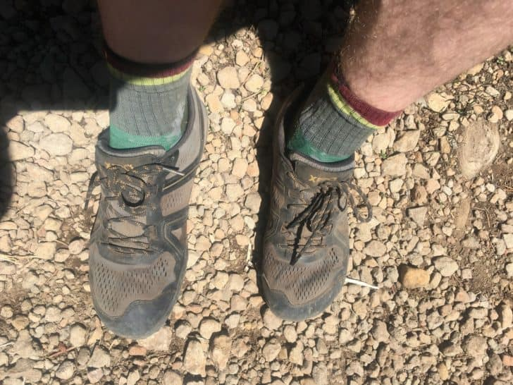 xero shoes mesa trail: the inverted v shape