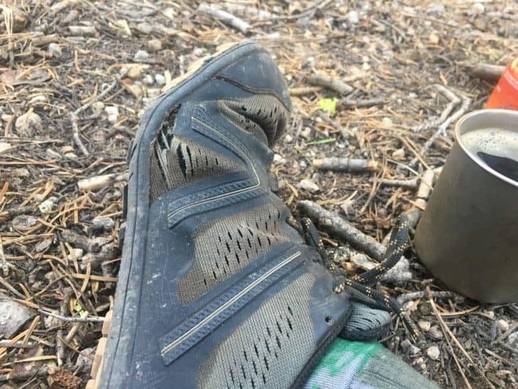 xero shoes mesa trail: mesh failure on other side of shoe