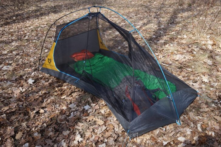 NEMO Equipment Hornet Elite 2P review: the author's sleep system in the tent's inner