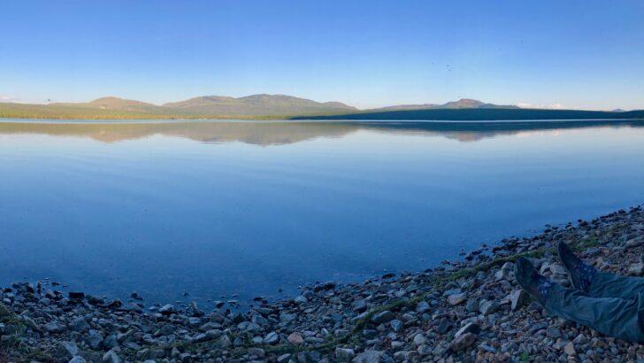 Hiking the Yellowstone Caldera Loop: Heart Lake sunset