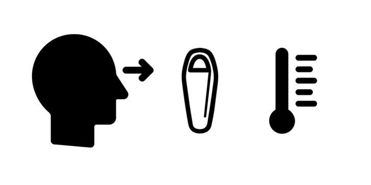 Sleeping bag temperature ratings : Noun introduction icons