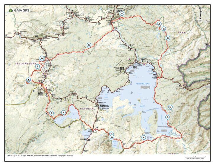 Hiking the Yellowstone Caldera Loop: YSC route