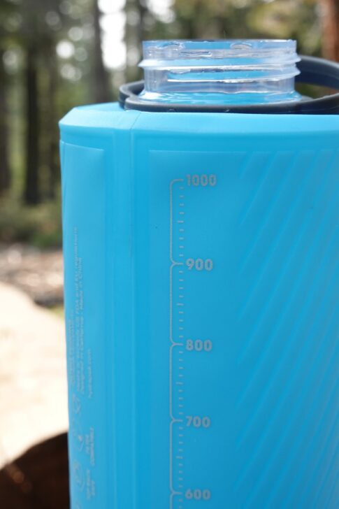 HydraPak Flux 1L review: Milliliter marks on the Flux Water Bottle