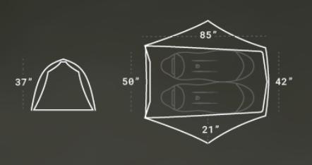 NEMO Equipment Hornet Elite 2P review: NEMO 2P Elite Floor Plan